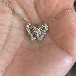"Jewelry - Sterling Silver Butterfly 🦋 Necklace 16"" to 18"""